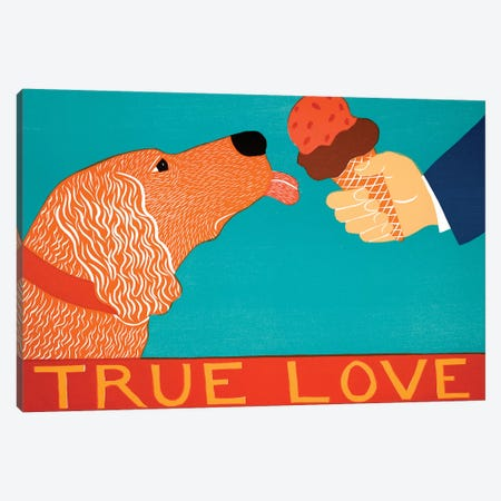 True Love, Golden Canvas Print #STH222} by Stephen Huneck Canvas Art Print