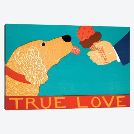True Love, Light Golden Canvas Print #STH223} by Stephen Huneck Art Print