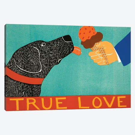 True Love, Black Canvas Print #STH224} by Stephen Huneck Canvas Artwork