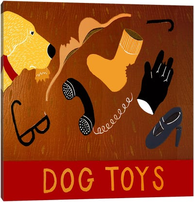 Dog Toys - Yellow Canvas Print #STH22