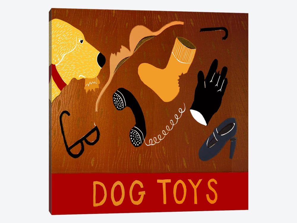 Dog Toys - Yellow by Stephen Huneck 1-piece Art Print