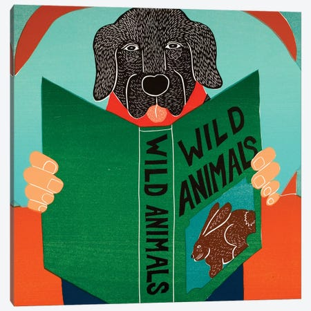 Wild Animals, Black Canvas Print #STH233} by Stephen Huneck Canvas Wall Art