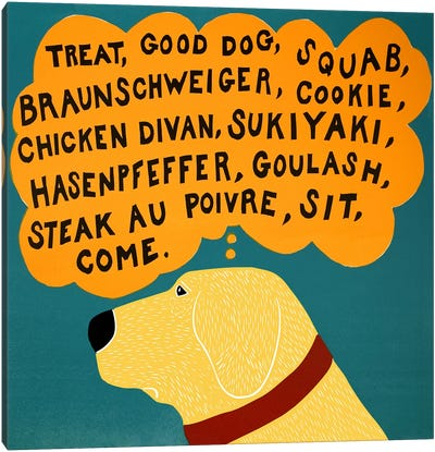 Dogs can only learn a few words Canvas Print #STH26