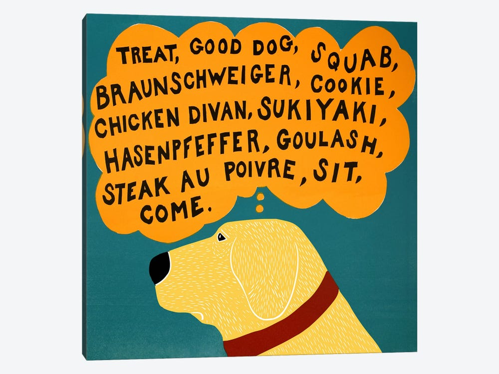 Dogs can only learn a few words by Stephen Huneck 1-piece Art Print