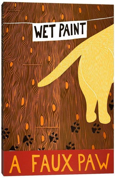 A Faux Paw Yellow Canvas Print #STH2