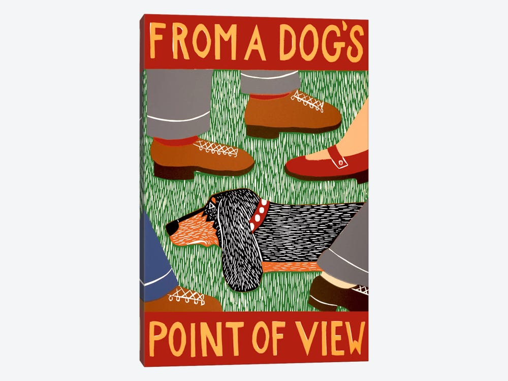 From a Dog's Point of View by Stephen Huneck 1-piece Canvas Art Print