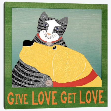 Get Love Give Canvas Print #STH36} by Stephen Huneck Canvas Print