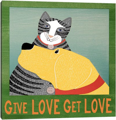 Get Love Give Canvas Art Print