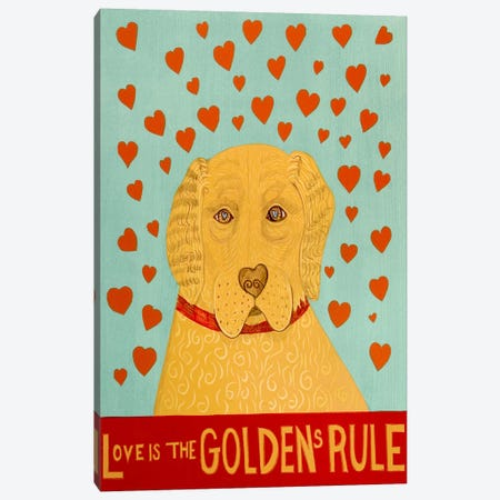 Golden Rule Canvas Print #STH39} by Stephen Huneck Canvas Art
