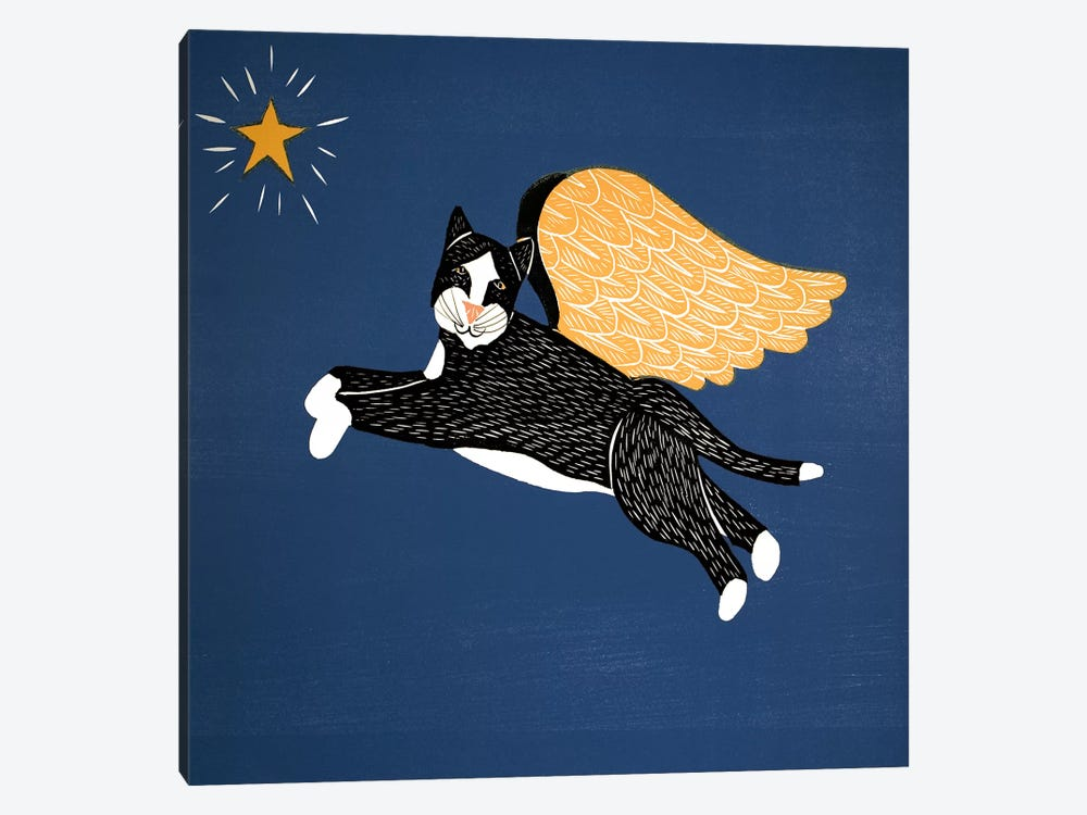 Angel Cat by Stephen Huneck 1-piece Canvas Artwork