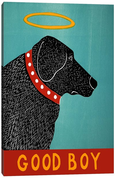 Good Boy Black Canvas Art Print