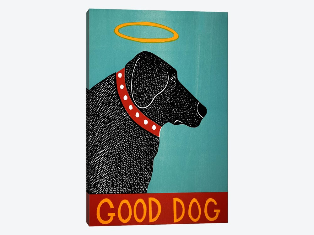 Good Dog Black by Stephen Huneck 1-piece Canvas Wall Art