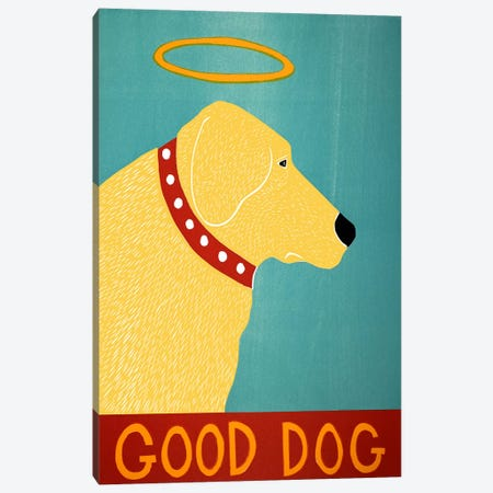 Good Dog Yellow Canvas Print #STH42} by Stephen Huneck Canvas Art Print