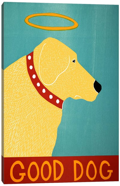 Good Dog Yellow Canvas Art Print