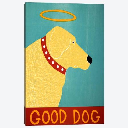 Good Dog Yellow Canvas Print #STH42} by Stephen Huneck Canvas Art Print