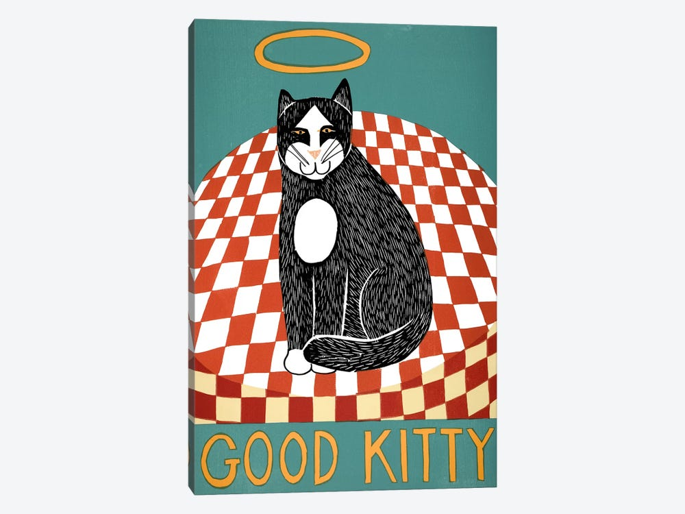 Good Kitty by Stephen Huneck 1-piece Canvas Wall Art