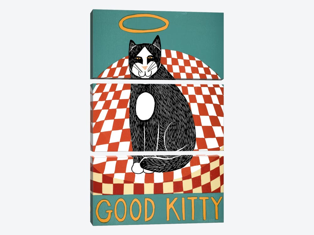 Good Kitty by Stephen Huneck 3-piece Canvas Artwork