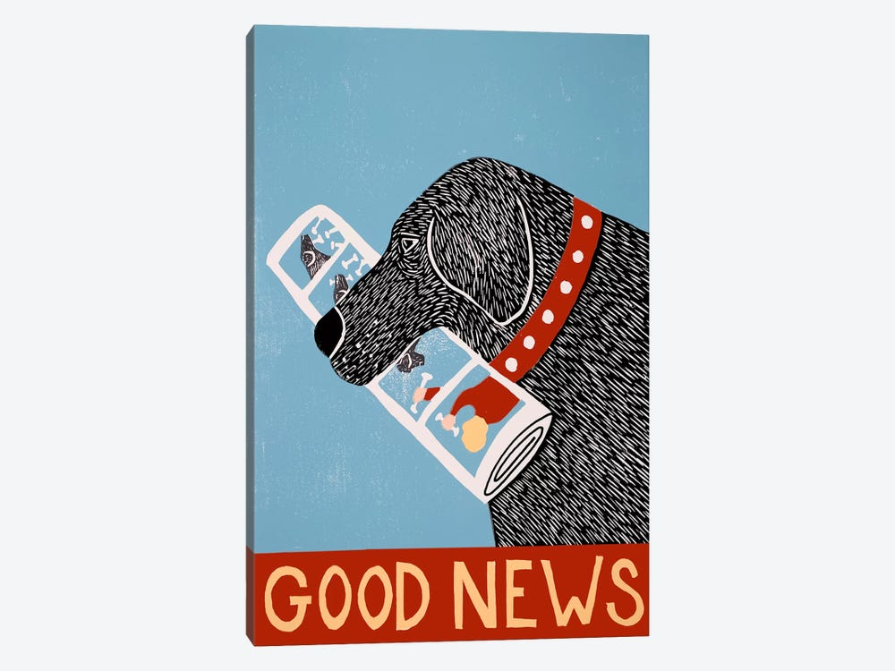 Good News Dog Black by Stephen Huneck 1-piece Art Print