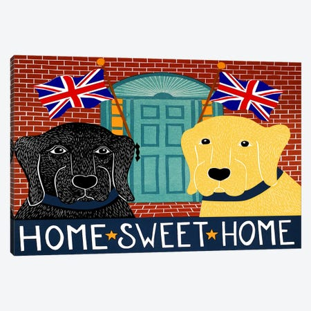 Home Sweet Home Brit Black Canvas Print #STH48} by Stephen Huneck Canvas Print