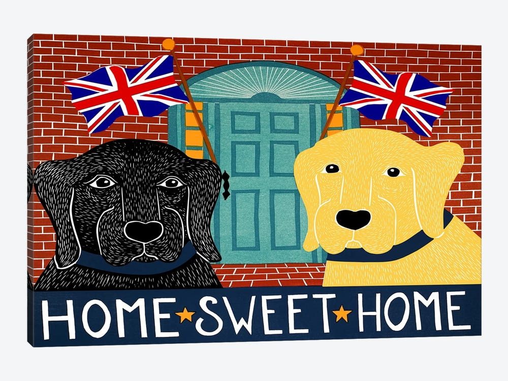 Home Sweet Home Brit Black by Stephen Huneck 1-piece Canvas Print