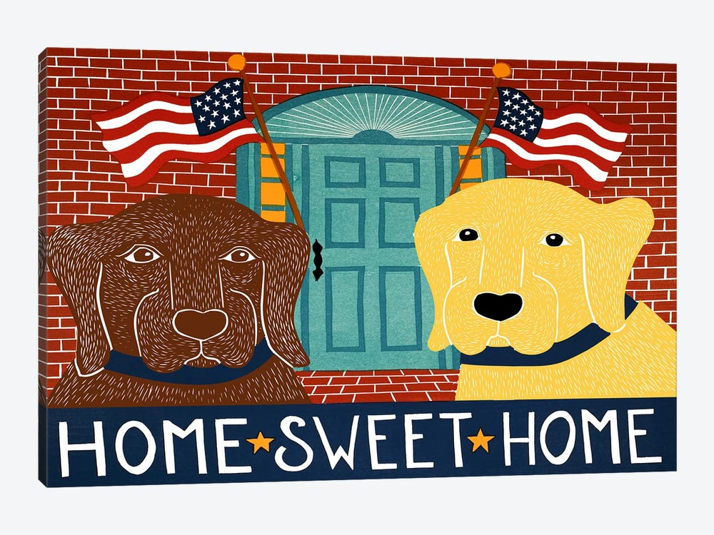 Home Sweet Home Choc Yellow by Stephen Huneck 1-piece Canvas Artwork