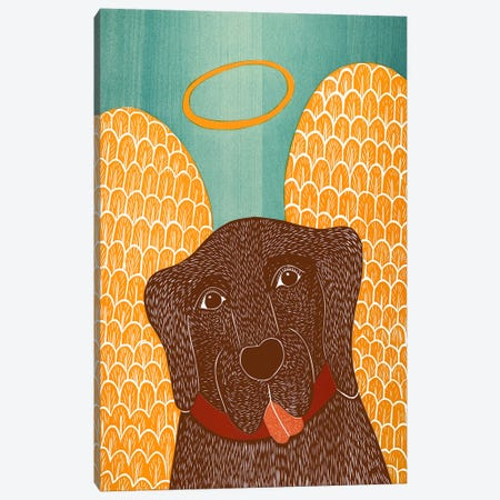 Angel Dog Choc Canvas Print #STH4} by Stephen Huneck Canvas Art Print