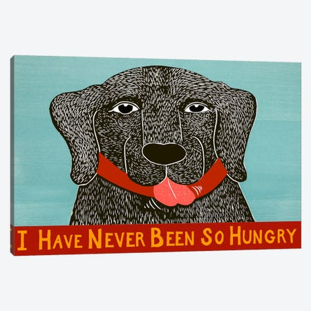I Have Never Been So Hungry Canvas Print #STH51} by Stephen Huneck Canvas Art