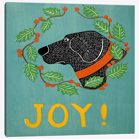 Joy Black Canvas Print #STH57} by Stephen Huneck Canvas Art Print