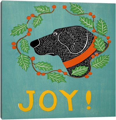 Joy Black Canvas Art Print