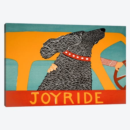 Joyride Black Canvas Print #STH58} by Stephen Huneck Canvas Artwork