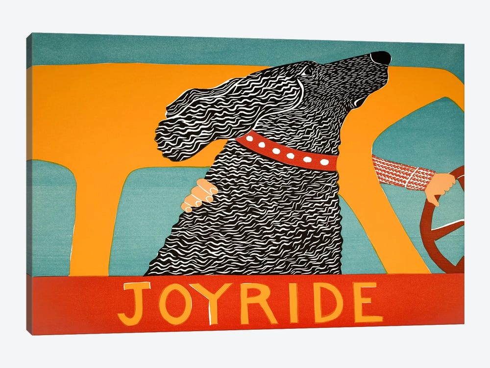 Joyride Black by Stephen Huneck 1-piece Canvas Wall Art