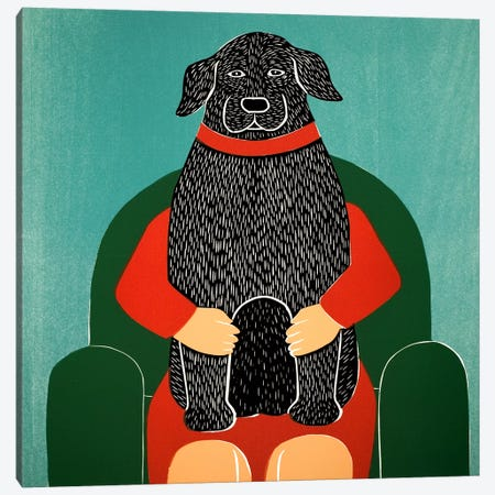 Lap Dog Canvas Print #STH59} by Stephen Huneck Canvas Artwork