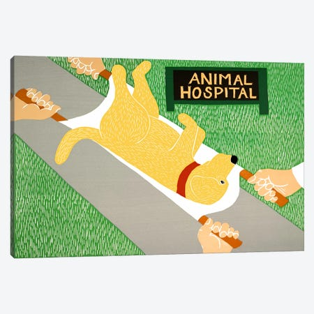 Animal Hospital Yellow Canvas Print #STH5} by Stephen Huneck Canvas Print