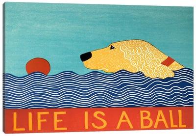 Life Is A Ball Gold Golden Canvas Art Print
