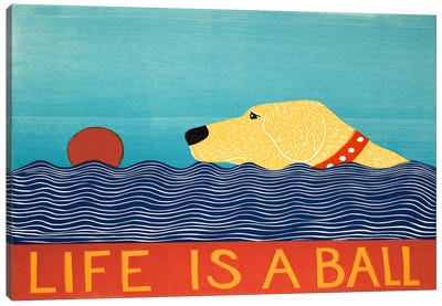 Life Is A Ball Yell Canvas Art Print