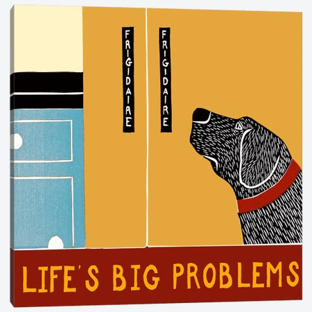 Life's Big Problems Banner Canvas Print #STH64} by Stephen Huneck Canvas Art