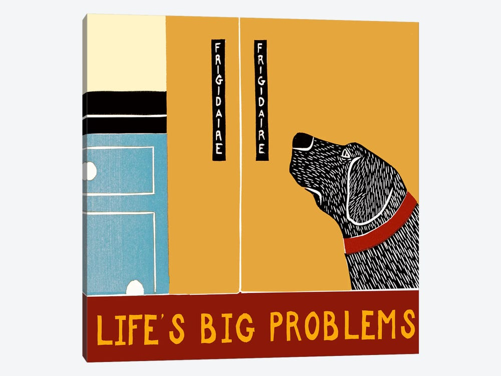 Life's Big Problems Banner by Stephen Huneck 1-piece Canvas Art Print