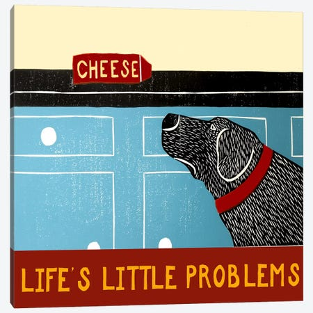 Life's Little Problems Banner Canvas Print #STH65} by Stephen Huneck Canvas Wall Art