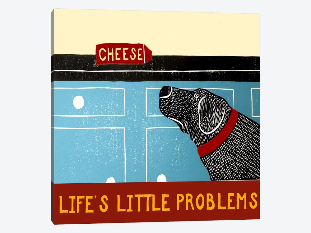 Life's Little Problems Banner by Stephen Huneck 1-piece Canvas Artwork