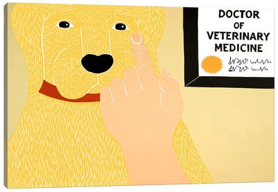 Listen To Your Vet Yellow Canvas Art Print