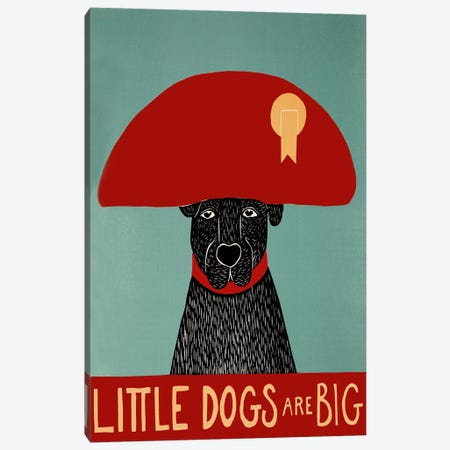 Little Dogs Are Big Canvas Print #STH67} by Stephen Huneck Canvas Art