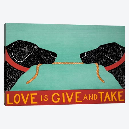 Love Is Blacks Canvas Print #STH68} by Stephen Huneck Canvas Print