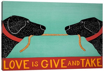 Love Is Blacks Canvas Art Print