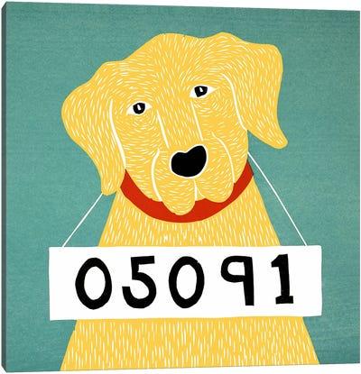 Bad Dog Yellow Canvas Art Print