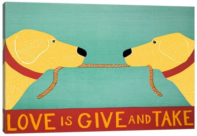 Love Is Yellow Yellow Canvas Art Print