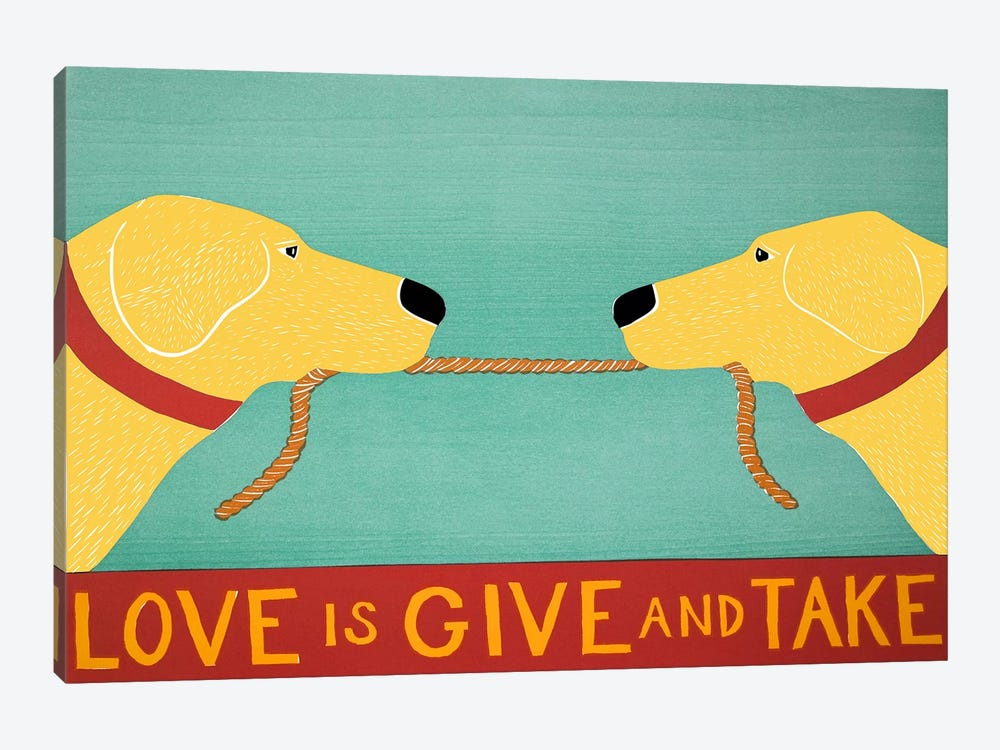 Love Is Yellow by Stephen Huneck 1-piece Canvas Artwork