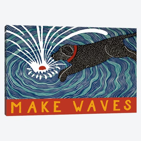 Make Waves With Banner Canvas Print #STH75} by Stephen Huneck Canvas Art Print