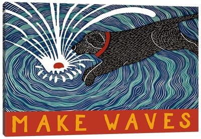 Make Waves With Banner Canvas Art Print