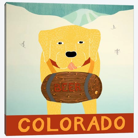Man's Best Friend Colorado Yellow Canvas Print #STH78} by Stephen Huneck Canvas Art