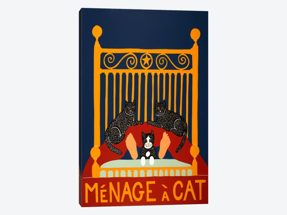 Menage A Cat by Stephen Huneck 1-piece Art Print